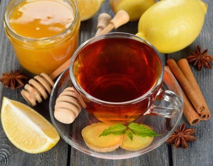 Чай с мятой и корицей