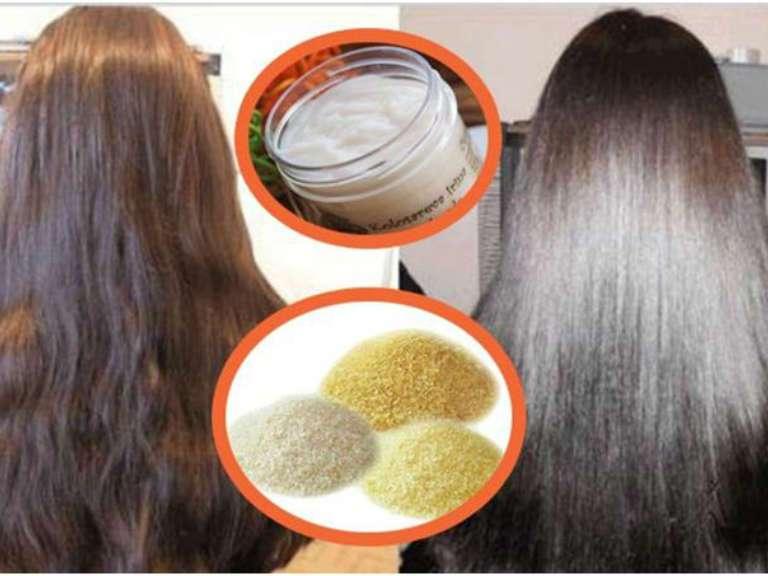 Маска для волос желатином эффект фотографии