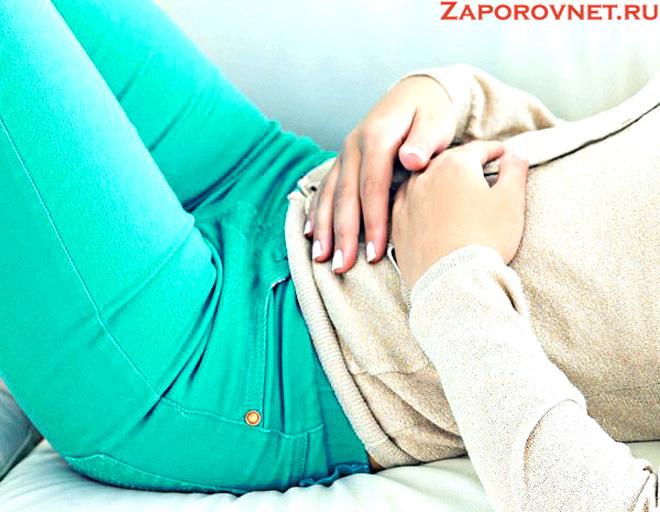 Боли в кишечнике при запоре