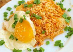Коричневый рис с Чиа и яйцом