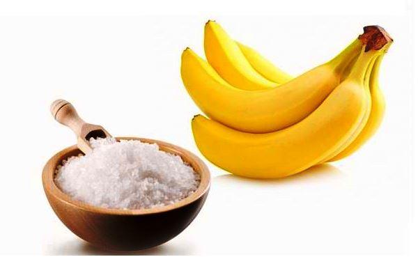 Банановая маска с морской солью