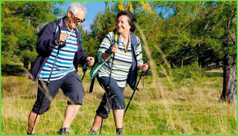 Техника скандинавской ходьбы с палками для пожилых