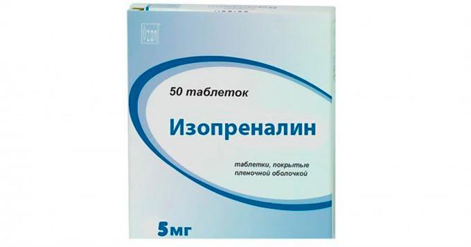 Изопреналин: инструкция по применению
