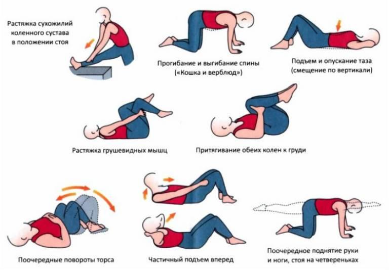 Зарядка при остеохондрозе различных отделов позвоночника