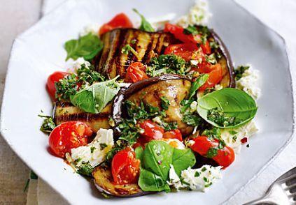 Салат из баклажанами и сыром