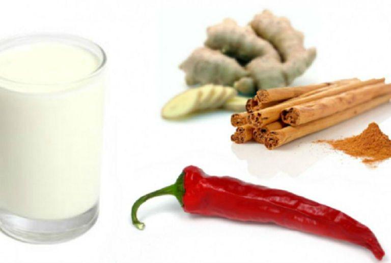 Кефир с корицей, имбирем и красным перцем для похудения