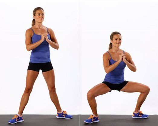 Плие - тренируем ягодичные мышцы