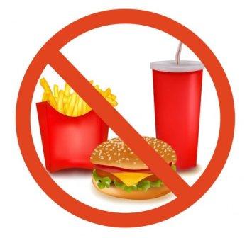 Нельзя употреблять при правильном питании