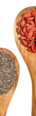Семена Чиа и ягоды Годжи