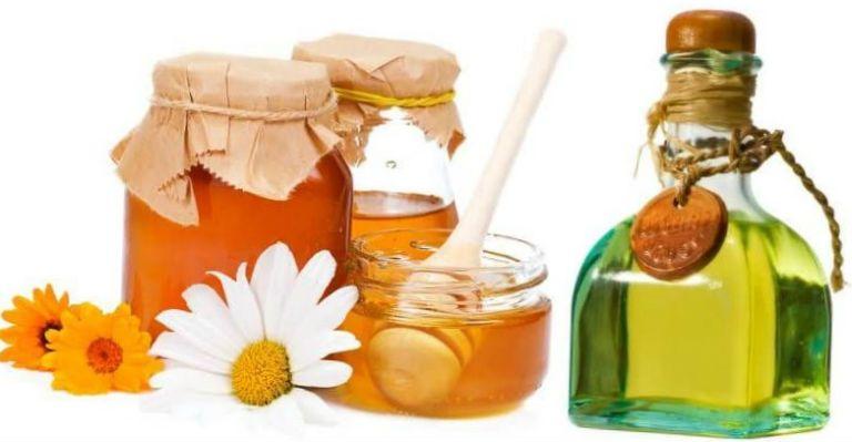 Маска с медом и маслом для лица