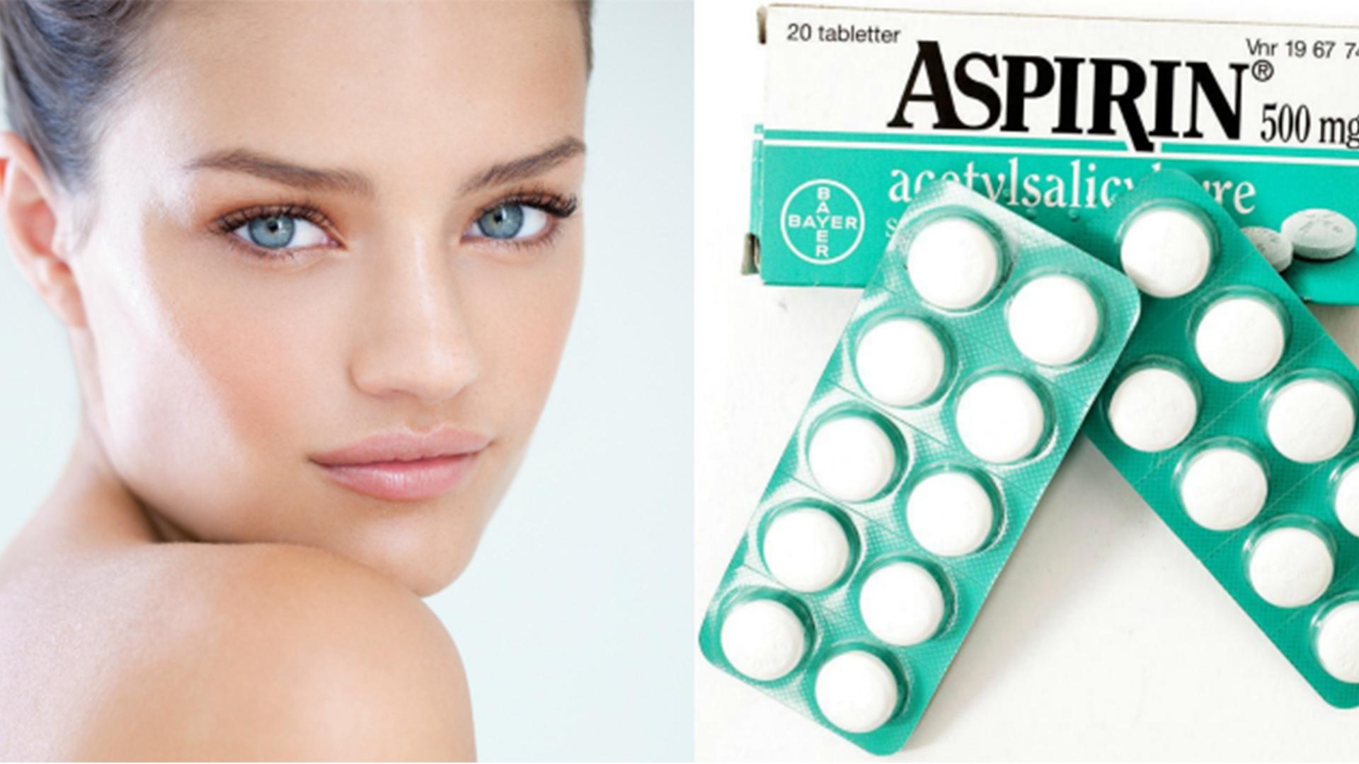 Воздействие аспирина на кожу лица